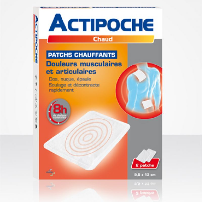 Actipoche patchs chauffants 8h d'action 2 patchs